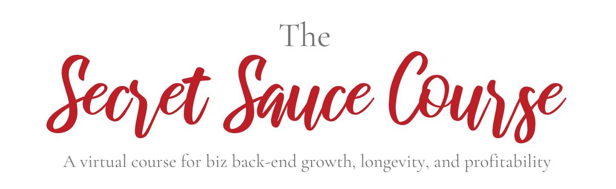 Secret Sauce Course